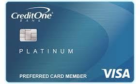 credit one bank platinum visa with cash