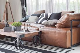 clean diffe types of leather sofa