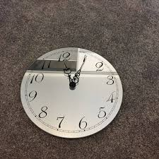 adorable glass mirror wall clock large