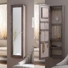 jewelry armoire mirror locking cabinet