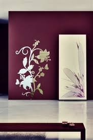 Baroque Flower Wall Decal Reflective Mirror Wall Decals