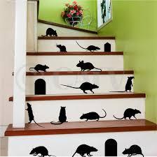 Rats Mice Doors Set Of 17 Halloween Vinyl Wall Pattern Decal Stickers Black Walmart Com Walmart Com