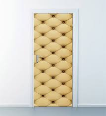 Upholstery Pattern Leather Wall Decal Leather Door Decor Etsy