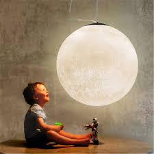 Modern 3d Print Moon Lamp Pendant Lights Pla Children Room Hanging Lamp De Bedroom Lighting Living Room Pendant Lamp Luminaire Pendant Lights Aliexpress