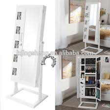 floor standing mirror jewelry cabinet