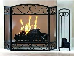 black fireplace screen progarana co