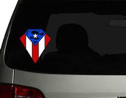 Puerto Rico Vinyl Car Decal Sticker 6 H Puerto Rican Flag Superman Design No1 Ebay
