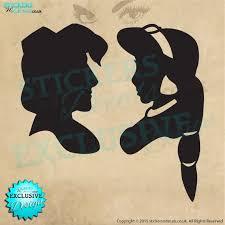 Aladdin Jasmine Silhouette Vinyl Wall Art Wall Decal Sticker Etsy