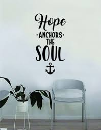 Hope Anchors The Soul V2 Wall Decal Sticker Room Art Vinyl Home House Boop Decals
