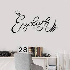 Crown Eyelash Words Sign Vinyl Wall Decal Beauty Salon Makeup Wall Interior Stickers Mural Art Design Quote Shop Logo Hot Wall Stickers Art Wall Stickers Baby From Onlinegame 10 67 Dhgate Com