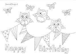 Happy Birthday Verjaardag Doodle Kleurplaten Kleurplaten Voor