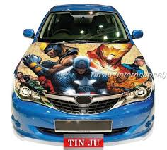 Diy Color Car Vinyl Decal Sticker For Car Hood Sticker Fits Any Auto Vehicle Decals Captain America Pattern Design Tj Car Decals Vinyl Car Transformers Cars