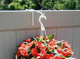 Amazon Com Vinyl Fence Plant Accessory Rail Hanger White 8 5 Inch Extension Plant Hooks Garden Outdoor