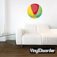 Beach Ball Wall Decal Wall Fabric Vinyl Decal Removable Etsy