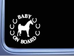 Amazon Com Lplpol Window Car Stickers Morgan Baby On Board Sticker Horse Rescue Window Decal For Car Laptop Window Sticker 6 Kitchen Dining
