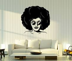 Wall Stickers Vinyl Decal Beauty Girl Style Of The 90 S Hairstyle Glasses Decor Unique Gift Z4831 Hairstyles With Glasses Beauty Girl Vinyl Wall Decals