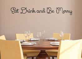 Eat Drink And Be Merry Wall Decal 0012 Kitchen Wall Decals Food Wall Decal Studios Com