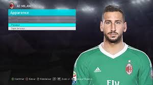 PES 18 Antonio Donnarumma (AC Milan – Goalkeeper) Face - EDY Patch ...