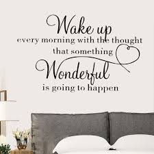 Wake Up Wonderful Wall Sticker Home Decoration Bedroom Removable Vinyl Decal Art Wish