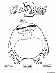 Big Black Bird Bomb From Angry Birds Movie 2 Coloring Pages Printable