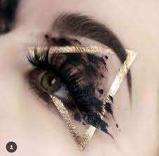 black gold triangle eye makeup
