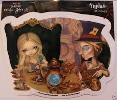 Alice In Wonerland And The Mad Hatter Decal Sticker Tea Party Car Decal Yujean Ebay