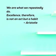 Custom Wall Decal Sticker We Are What We Repeatedly Do Excellence Therefore Is Not An Act But A Habit Aristotle Home Decor 20x40 Walmart Com Walmart Com