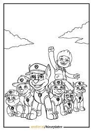 Kleurplaat Paw Patrol Hoge Kwaliteit Paw Patrol Kleurplaten
