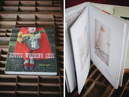 rustic wedding chic coffee table book