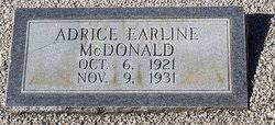 Adrice Earline McDonald (1921-1931) - Find A Grave Memorial
