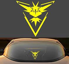 6 Pokemon Go Team Instinct Symbol Car W Buy Online In Albania At Desertcart
