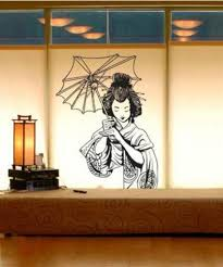 Asian Art Wall Stickers Japanese Geisha Wall Decal