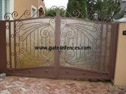 Driveway Outdoor Aluminum Wrought Iron Gate Wrought Iron Metal Gate