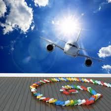 aeroplane wall mural airplane blue sky