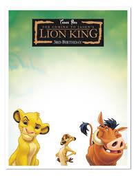 Free Printable Lion King Invitations Imprimibles Rey Leon Rey