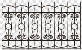 Fence Wrought Iron Gate Chain Link Fencing Material Transparent Png