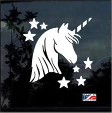 Unicorn And Stars Window Decal Stickers Star Stickers Window Decals Decals Stickers