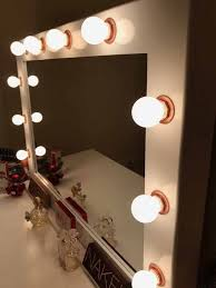 small two tone hollywood mirror