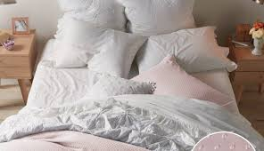 grey and white striped comforter