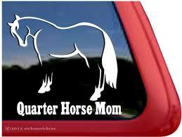 Quarter Horse Decals Stickers Nickerstickers