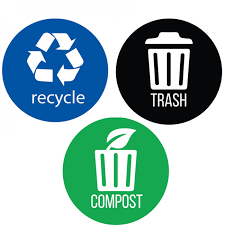 Itouchless Recycle Trash Compost Premium Vinyl Stickers Size Options