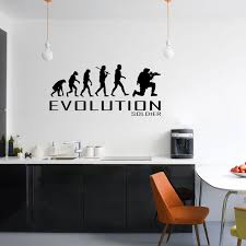 Evolution Of Soldier Wall Sticker Vinyl Decal Decors Art Army War Guns Fight The Clothing Shed