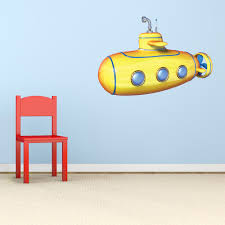3d Submarine Printed Wall Decal