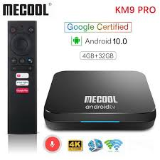 Mecool KM9 PRO ATV 4G 32G Android 10 TV Box Google Certified Amlogic S905X2  2.4G/5G Wifi Androidtv 10 Smart TV Box Internet Tv Box Best Smart Tv From  Arthur032, $41.59
