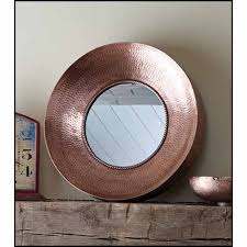 hammered metal mirror chalk it up