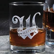 deep etched whiskey glasses set