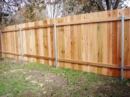 Wood Privacy Fence On Steel Posts Western Red Cedar Yelp Wood Privacy Fence Cedar Fence Fence Planning