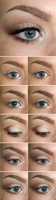 makeup for blonde hair blue eyes step