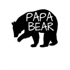 Papa Bear Car Sticker U S Custom Tees