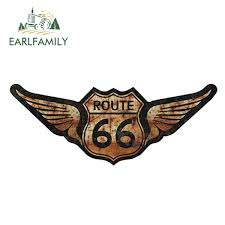 15cm X 6cm Rat Rod Us Highway Route 66 Car Stickers Vinyl Decal Personality Waterproof Accessories Wish